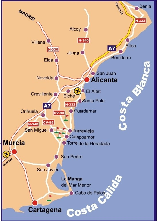 Map Of Spain Coast.East Coast Of Spain Map Twitterleesclub