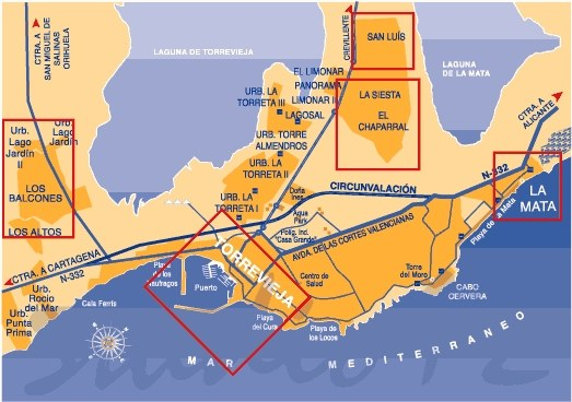 Map of Torrevieja